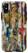 Butterflies In Plum Blossoms And Texture IPhone X Tough Case