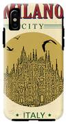 Cathedral Of Milano, Italy  In Vintage IPhone X Tough Case