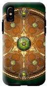 Celtic Chieftain Shield - Emerald IPhone X Tough Case