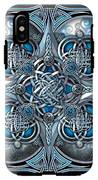 Celtic Hearts - Blue And Silver IPhone X Tough Case