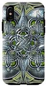Celtic Hearts - Green And Silver IPhone X Tough Case