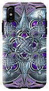 Celtic Hearts - Purple And Silver IPhone X Tough Case