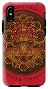 Celtic Pagan Fertility Goddess In Red IPhone X Tough Case
