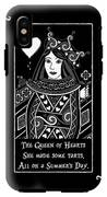 Celtic Queen Of Hearts Part I In Black And White IPhone X Tough Case