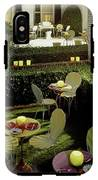 Chairs And Tables In A Garden IPhone X Tough Case
