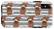 Christmas Holidays Seamless Vector IPhone X Tough Case