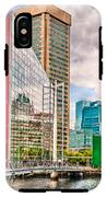 City - Baltimore Md - Harbor Place - Future City  IPhone X Tough Case