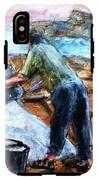 Collecting Salt At Xwejni Gozo IPhone X Tough Case