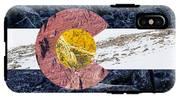 Colorado State Flag With Mountain Textures IPhone X Tough Case