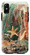 Colorful Catch - Starfish In Fishing Nets Square IPhone X Tough Case