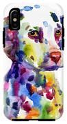 Colorful Dalmatian Puppy Dog Portrait Art IPhone X Tough Case