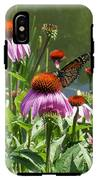 Coneflower With Butterfly IPhone X Tough Case