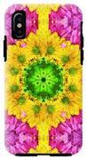 Crazy Daises - Spring Flowers - Bouquet - Gerber Daisy Wanna Be - Kaleidoscope 1 IPhone X Tough Case