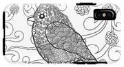 Cute Bird In Fantasy Flower Garden IPhone X Tough Case