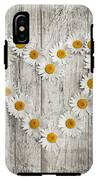 Daisy Heart On Old Wood IPhone X Tough Case