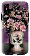 Dark Ink Vase And Flowers IPhone X Tough Case