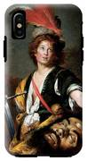 David With The Head Of Goliath, C.1636 Oil On Canvas IPhone X Tough Case