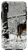 Deer On Snowy Trail IPhone X Tough Case