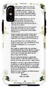 Desiderata With Art IPhone X Tough Case