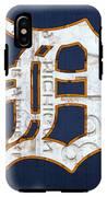 Detroit Tigers Baseball Old English D Logo License Plate Art IPhone X Tough Case