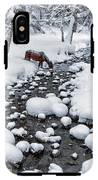 Drinking In Snow IPhone X Tough Case