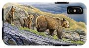 Dunraven Pass Grizzly Family IPhone X Tough Case