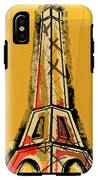 Eiffel Tower Yellow Black And Red IPhone X Tough Case