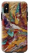 Exotic Flower Abstract Painting IPhone X Tough Case