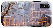 Faneuil Hall In Snow IPhone X Tough Case