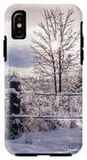 Fence And Tree Frozen In Ice IPhone X Tough Case