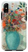 Flowers In A Turquoise Vase IPhone X Tough Case