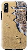 Footprints On Beach IPhone X Tough Case
