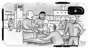 Four Men Converse Outdoors In A Prisoner IPhone X Tough Case