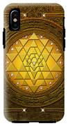 Golden-briliant Sri Yantra IPhone X Tough Case