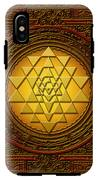 Golden  Sri Lakshmi Yantra IPhone X Tough Case