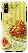 Gourmet Cover Featuring A Plate Of Beignets IPhone X Tough Case
