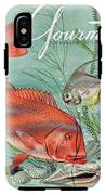 Gourmet Cover Featuring A Snapper And Pompano IPhone X Tough Case