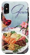 Gourmet Cover Illustration Of A Plate Of Antipasto IPhone X Tough Case