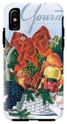 Gourmet Cover Illustration Of Holiday Fruit Basket IPhone X Tough Case