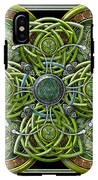 Green And Silver Celtic Cross IPhone X Tough Case