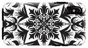 Hand Drawing Pattern For Tile In Black IPhone X Tough Case