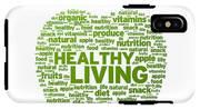 Healthy Living Apple Illustration IPhone X Tough Case