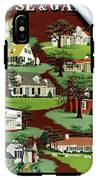 House & Garden Cover Illustration Of 9 Houses IPhone X Tough Case