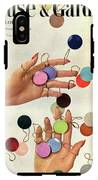 House & Garden Cover Of Woman's Hands With An IPhone X Tough Case