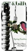 House And Garden Cover Featuring Pots And A Bird IPhone X Tough Case