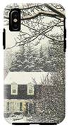 House In Snow IPhone X Tough Case