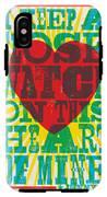 I Walk The Line - Johnny Cash Lyric Poster IPhone X Tough Case
