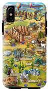 Illustrated Map Of Arizona IPhone X Tough Case