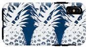 Indigo And White Pineapples IPhone X Tough Case
