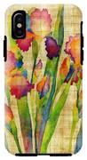 Iris Elegance On Yellow IPhone X Tough Case